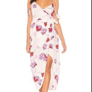 Bardot: floral wrap dress